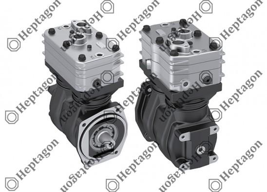 Twin Cylinder Compressor Ø75 mm-442 cc-Stroke 50 mm / 1001 342 003
