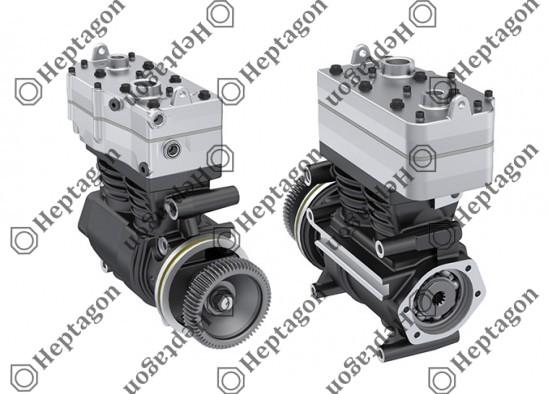 Twin Cylinder Compressor Ø85 mm-352/119 cc-Stroke 61 mm/21 mm / 1001 342 010