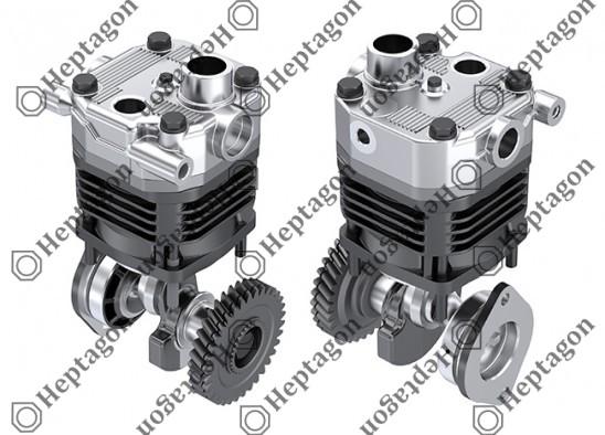 Single Cylinder Vertical Compressor Ø100 mm - 596 cc - Stroke 38 mm / 4001 341 008