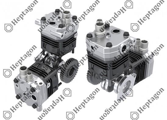 Twin Cylinder Vertical & Horizontal Compressor Ø100 mm - 722 CC - Stroke 46 mm / 4001 341 011