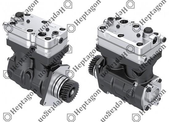 Twin Cylinder Compressor Ø85 mm - 636 CC - Stroke 56 mm / 4001 341 044