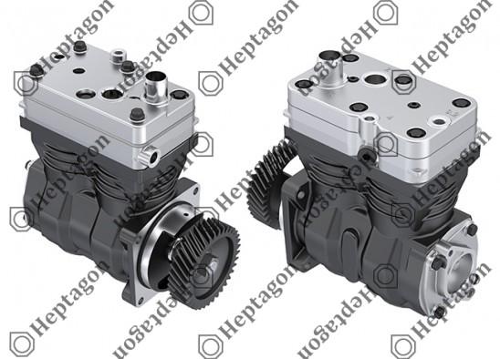 Twin Cylinder Compressor Ø85 mm - 636 CC - Stroke 56 mm / 4001 341 046