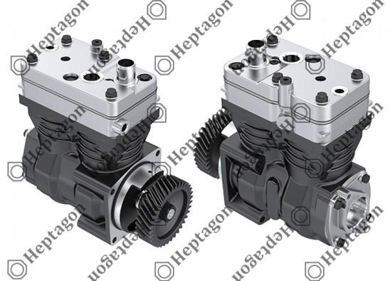 Twin Cylinder Compressor Ø85 mm - 636 CC - Stroke 56 mm / 4001 341 060