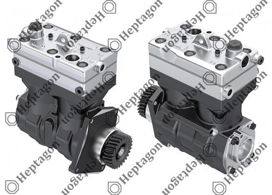 Twin Cylinder Compressor Ø85 mm - 636 CC - Stroke 56 mm / 4001 341 065