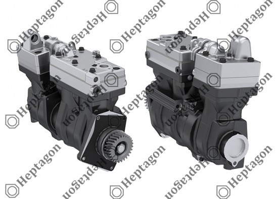 3 Cylinder Compressor Ø85 mm 636 CC / 210 CC Stroke 56 mm / 37 mm / 4001 341 067