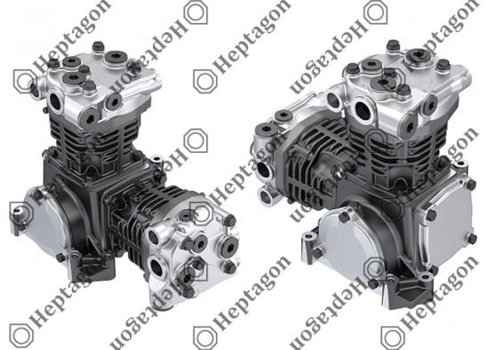 Twin Cylinder Compressor Ø90 mm - 547 CC - Stroke 43 mm / 6001 341 005 / 51540007055