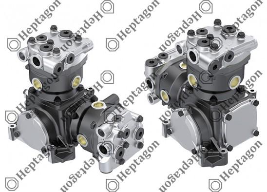 Twin Cylinder Compressor Ø90 mm - 547 CC - Stroke 43 mm / 6001 341 007