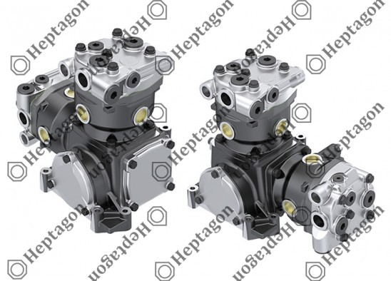 Twin Cylinder Compressor Ø90 mm - 547 CC - Stroke 43 mm / 6001 341 008