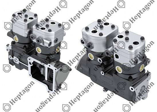 Twin Cylinder Compressor Ø90 mm - 547 CC - Stroke 46 mm / 6001 341 026