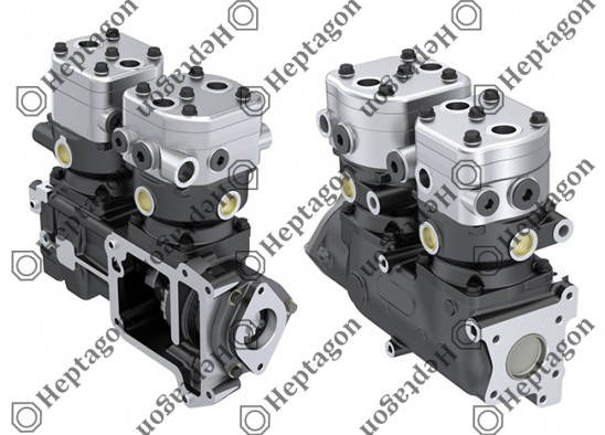 Twin Cylinder Compressor Ø90 mm - 547 CC - Stroke 46 mm / 6001 341 027