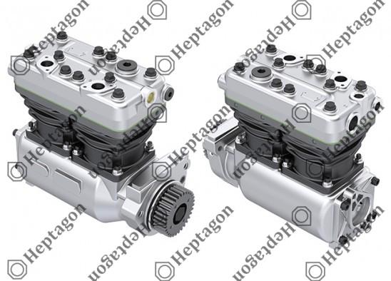 Twin Cylinder Compressor Ø88 mm-600 CC-Stroke 50 mm / 6001 341 041 / 51541007041,  LK4932,  K000513