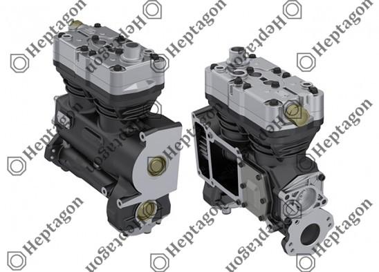 Twin Cylinder Compressor Ø92 mm - 720 CC - Stroke 54 mm / 6001 341 046