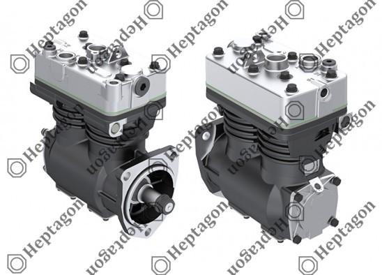 Twin Cylinder Compressor Ø88 mm-600 cc-Stroke 50 mm / 8001 341 002