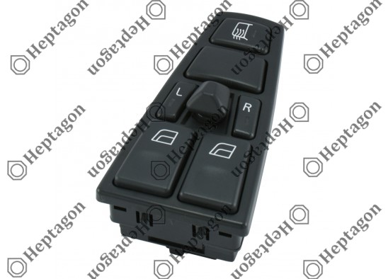 Volvo  FH9 - FH12 - FH16 - NH12 Window Lifter Switch / 8001 770 003 / 20752917