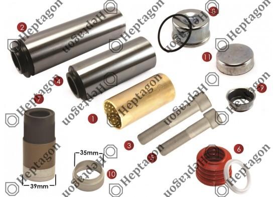 CALIPER PIN REPAIR KIT / 9104 120 254 / KNORR : K067417K50