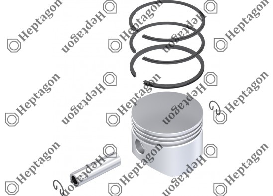 Piston & Ring Ø88.00 mm / 9304 850 021 / 0001302517    0001319311          85101375     3095841    1698848    I81169004      SEB22555