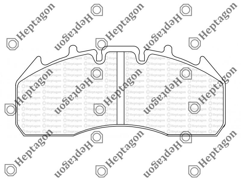 29174 Renault 440 Premium With Sensor Brake Pad 5001 391 006